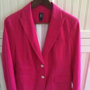 NWOT Hilfiger pink corduroy blazer size 10